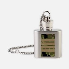 Canada-Army-Rank-Colonel-FlipMino Flask Necklace