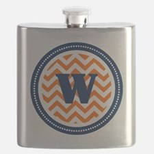 Orange & Navy Flask