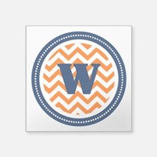 "Orange & Navy Square Sticker 3"" x 3"""