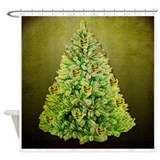 Christmas trees Shower Curtains