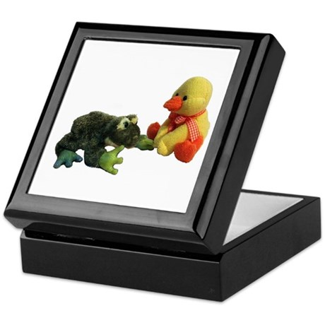 Frog and Duck Love Keepsake Box