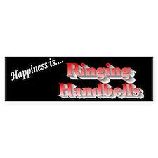 Happiness Is... Black Bumper Bumper Sticker