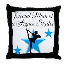 #1 SKATER MOM Throw Pillow