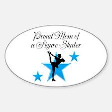 #1 SKATER MOM Sticker (Oval)