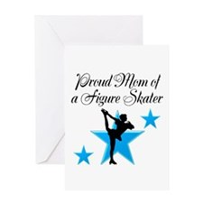 #1 SKATER MOM Greeting Card