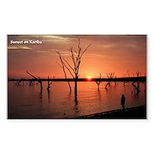 Kariba Sunset Rectangle Decal