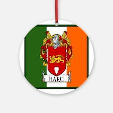 Hart Coat of Arms Irish Flag Ornament (Round)