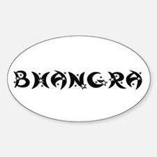 BHANGRA Oval Decal