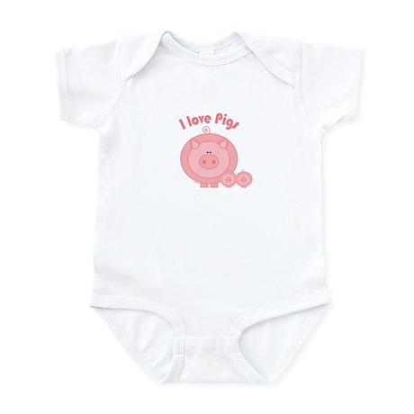 I Love Pigs Infant Bodysuit