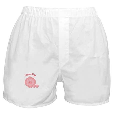 I Love Pigs Boxer Shorts