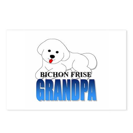 Bichon Frise Grandpa Postcards (Package of 8)