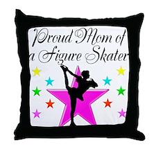 SKATING CHAMP MOM Throw Pillow