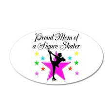 SKATING CHAMP MOM 35x21 Oval Wall Decal