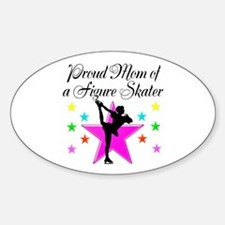 SKATING CHAMP MOM Sticker (Oval)