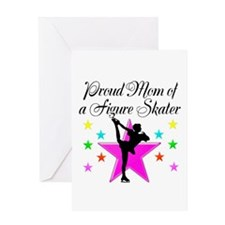 SKATING CHAMP MOM Greeting Card