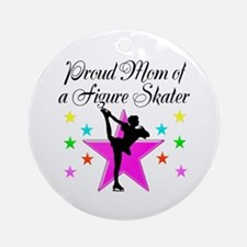 SKATING CHAMP MOM Ornament (Round)