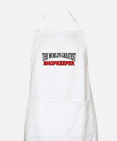 """The World's Greatest Shopkeeper"" BBQ Apron"