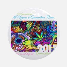 Old Hippies of Germantown Reunion Round Ornament