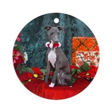 Italian Greyhound Christmas Watercolor Ornament (R