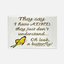 ADHD Butterfly Rectangle Magnet