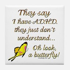 ADHD Butterfly Tile Coaster