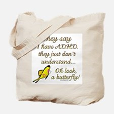 ADHD Butterfly Tote Bag