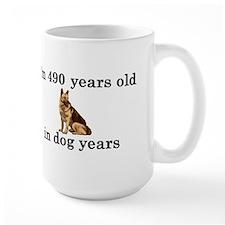 70 birthday dog years german shepherd 2 Mug