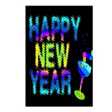* DISCOUNTED * Happy New Year Postcards (Package o