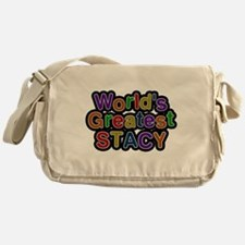 Worlds Greatest Stacy Messenger Bag