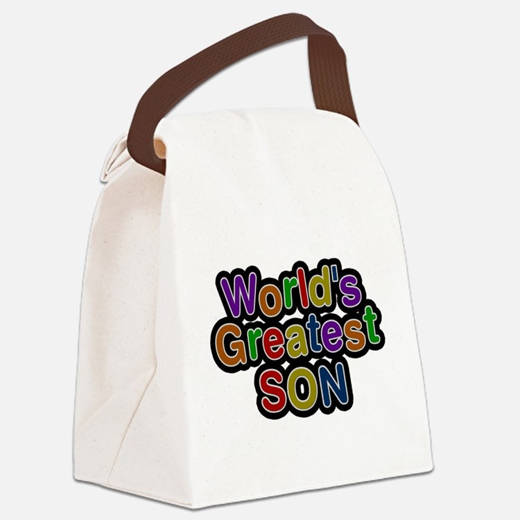 Worlds Greatest Son Canvas Lunch Bag