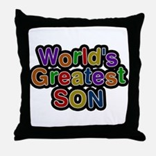 Worlds Greatest Son Throw Pillow