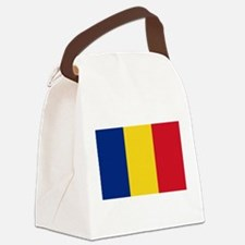 Romanian Flag Canvas Lunch Bag