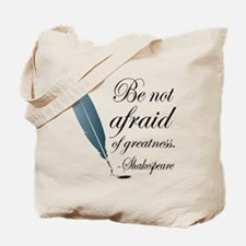 Shakespeare Greatness Quote Tote Bag