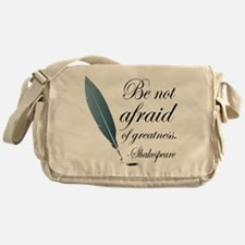 Shakespeare Greatness Quote Messenger Bag