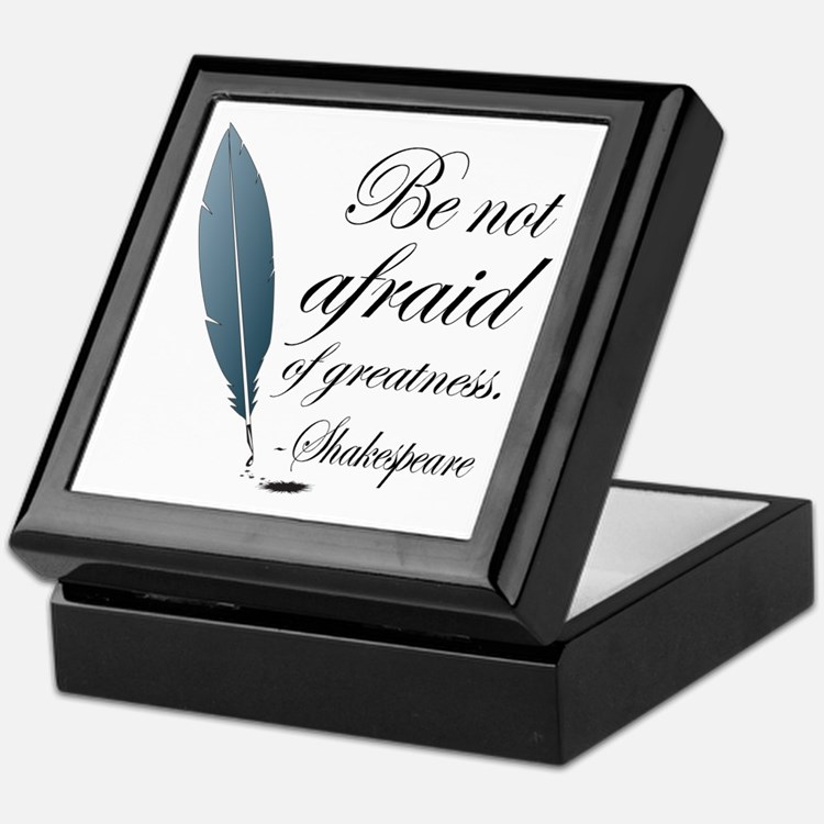 Shakespeare Greatness Quote Keepsake Box