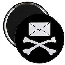 Go Postal Jolly Roger Magnet