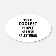 The Coolest Palestinian Designs Oval Car Magnet