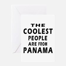 The Coolest Panama Designs Greeting Card