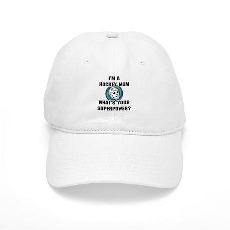 Hockey Mom Superhero Cap