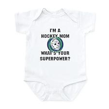 Hockey Mom Superhero Infant Bodysuit