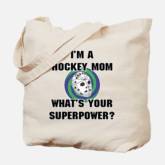 Hockey Mom Superhero Tote Bag