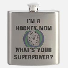 Hockey Mom Superhero Flask
