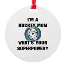 Hockey Mom Superhero Ornament