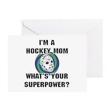 Hockey Mom Superhero Greeting Card
