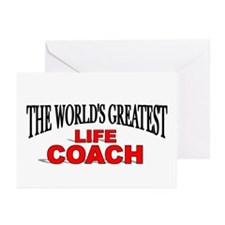 """""""The World's Greatest Life Coach"""" Greeting Cards ("""