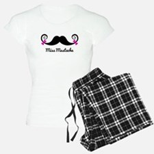 Miss Mustache design with pink bows Pajamas