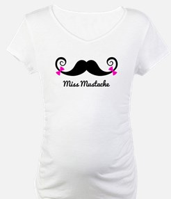 Miss Mustache design with pink bows Shirt