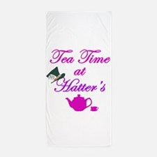 Tea Time at Hatters Beach Towel