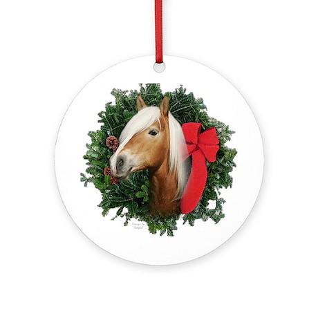 Palimino Horse Ornament (Round)