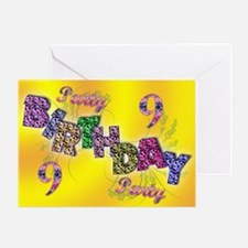 9th Birthday party invitation Greeting Card